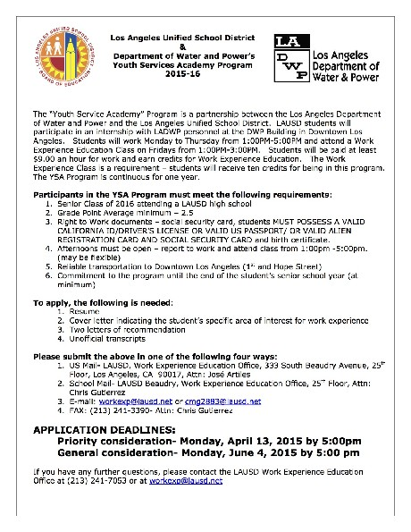 DWP YSA PROGRAM 2015-16 Recruitment Flyer 3.16.15.jpg